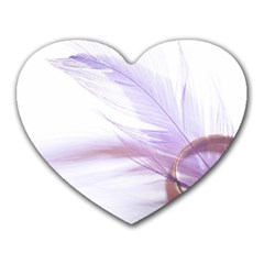 Ring Feather Marriage Pink Gold Heart Mousepads