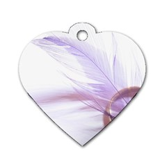 Ring Feather Marriage Pink Gold Dog Tag Heart (one Side)