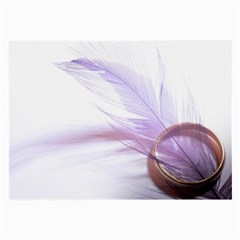 Ring Feather Marriage Pink Gold Large Glasses Cloth