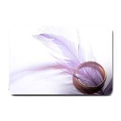 Ring Feather Marriage Pink Gold Small Doormat