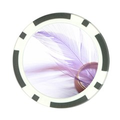 Ring Feather Marriage Pink Gold Poker Chip Card Guards