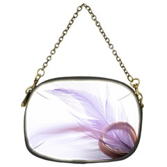Ring Feather Marriage Pink Gold Chain Purses (one Side)