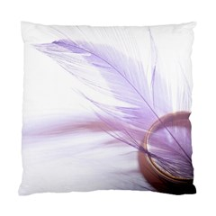 Ring Feather Marriage Pink Gold Standard Cushion Case (two Sides)