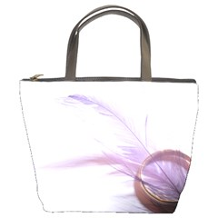 Ring Feather Marriage Pink Gold Bucket Bags