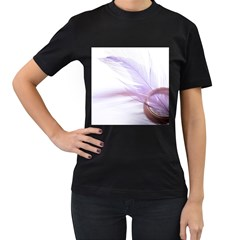 Ring Feather Marriage Pink Gold Women s T Shirt (black)
