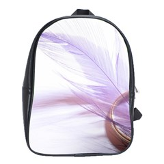 Ring Feather Marriage Pink Gold School Bags(large)
