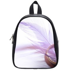 Ring Feather Marriage Pink Gold School Bags (small)