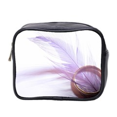 Ring Feather Marriage Pink Gold Mini Toiletries Bag 2 Side