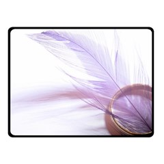 Ring Feather Marriage Pink Gold Fleece Blanket (small)