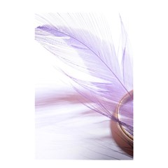 Ring Feather Marriage Pink Gold Shower Curtain 48  X 72  (small)
