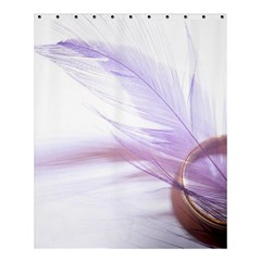 Ring Feather Marriage Pink Gold Shower Curtain 60  X 72  (medium)