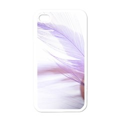 Ring Feather Marriage Pink Gold Apple Iphone 4 Case (white)