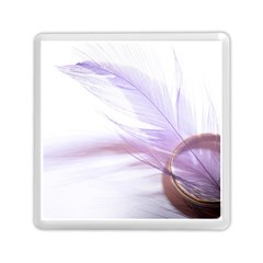 Ring Feather Marriage Pink Gold Memory Card Reader (square)