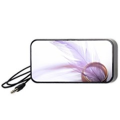 Ring Feather Marriage Pink Gold Portable Speaker (black)