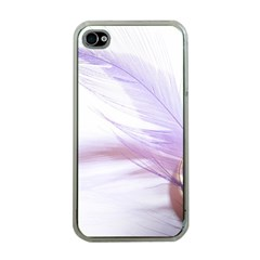 Ring Feather Marriage Pink Gold Apple Iphone 4 Case (clear)