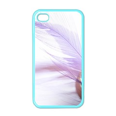 Ring Feather Marriage Pink Gold Apple Iphone 4 Case (color)