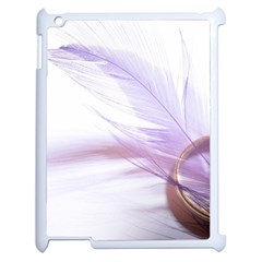 Ring Feather Marriage Pink Gold Apple Ipad 2 Case (white)