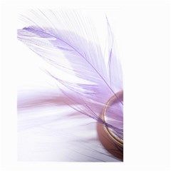 Ring Feather Marriage Pink Gold Small Garden Flag (two Sides)