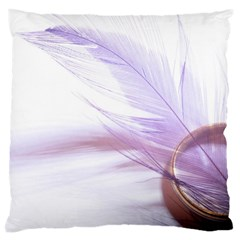 Ring Feather Marriage Pink Gold Large Cushion Case (two Sides)