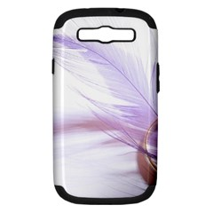 Ring Feather Marriage Pink Gold Samsung Galaxy S Iii Hardshell Case (pc+silicone)