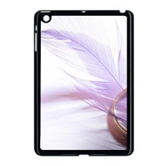 Ring Feather Marriage Pink Gold Apple Ipad Mini Case (black)