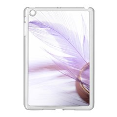 Ring Feather Marriage Pink Gold Apple Ipad Mini Case (white)