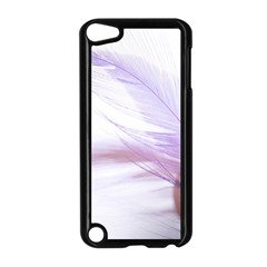Ring Feather Marriage Pink Gold Apple Ipod Touch 5 Case (black)