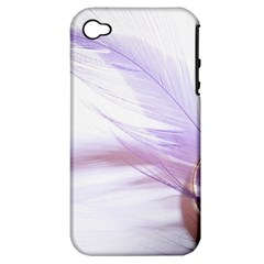 Ring Feather Marriage Pink Gold Apple Iphone 4/4s Hardshell Case (pc+silicone)
