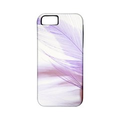 Ring Feather Marriage Pink Gold Apple Iphone 5 Classic Hardshell Case (pc+silicone)