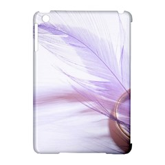 Ring Feather Marriage Pink Gold Apple Ipad Mini Hardshell Case (compatible With Smart Cover)