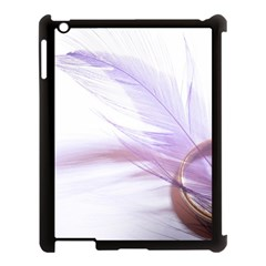 Ring Feather Marriage Pink Gold Apple iPad 3/4 Case (Black)