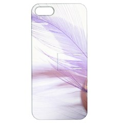 Ring Feather Marriage Pink Gold Apple Iphone 5 Hardshell Case With Stand