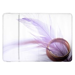 Ring Feather Marriage Pink Gold Samsung Galaxy Tab 8 9  P7300 Flip Case