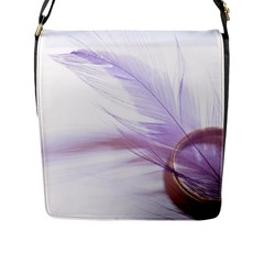 Ring Feather Marriage Pink Gold Flap Messenger Bag (l)