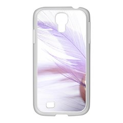 Ring Feather Marriage Pink Gold Samsung GALAXY S4 I9500/ I9505 Case (White)