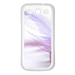 Ring Feather Marriage Pink Gold Samsung Galaxy S3 Back Case (White)