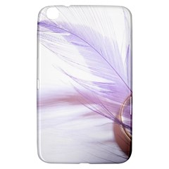 Ring Feather Marriage Pink Gold Samsung Galaxy Tab 3 (8 ) T3100 Hardshell Case