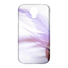 Ring Feather Marriage Pink Gold Samsung Galaxy S4 Classic Hardshell Case (pc+silicone)