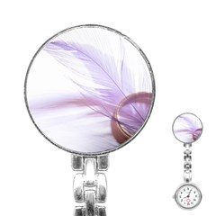 Ring Feather Marriage Pink Gold Stainless Steel Nurses Watch