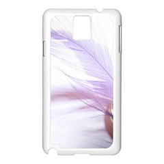 Ring Feather Marriage Pink Gold Samsung Galaxy Note 3 N9005 Case (white)
