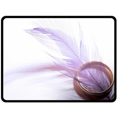 Ring Feather Marriage Pink Gold Double Sided Fleece Blanket (large)