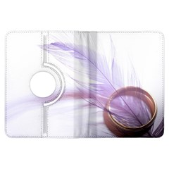 Ring Feather Marriage Pink Gold Kindle Fire Hdx Flip 360 Case