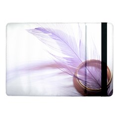 Ring Feather Marriage Pink Gold Samsung Galaxy Tab Pro 10 1  Flip Case
