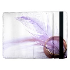 Ring Feather Marriage Pink Gold Samsung Galaxy Tab Pro 12 2  Flip Case