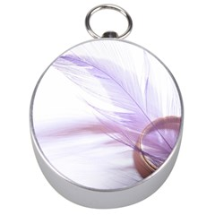 Ring Feather Marriage Pink Gold Silver Compasses