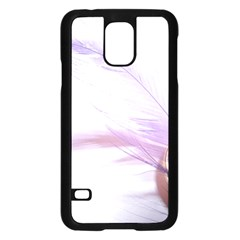 Ring Feather Marriage Pink Gold Samsung Galaxy S5 Case (black)