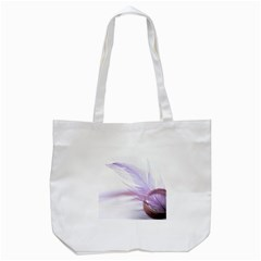Ring Feather Marriage Pink Gold Tote Bag (white)