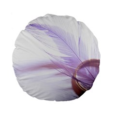 Ring Feather Marriage Pink Gold Standard 15  Premium Flano Round Cushions