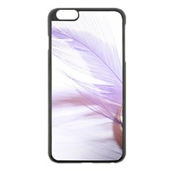 Ring Feather Marriage Pink Gold Apple Iphone 6 Plus/6s Plus Black Enamel Case