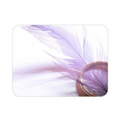 Ring Feather Marriage Pink Gold Double Sided Flano Blanket (mini)
